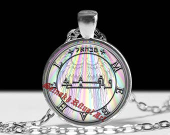 TRUTH, LIBERTY & JUSTICE talisman, Mebahel Angel seal pendant, Delivers oppressed and protects prisoners, celestial being jewelry #365.14