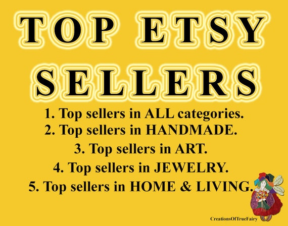 Top Etsy Sellers Top Selling Shops Most Popular Shops Handmade