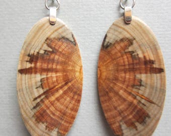 Gorgeous Monkey Puzzle Wooden Earrings, Handcrafted Butterfly look Hypoallergenic wires
