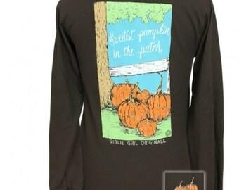 Sweetest Pumpkin - Pumpkin Patch - Adult Long Sleeve - Girlie Girl