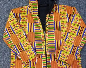 African clothing hoodie kente L-XL