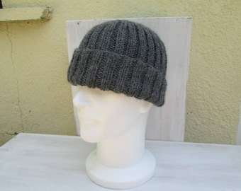Men wool and alpaca Hat handmade