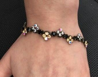 Sorrelli Bracelet of Austrian Crystals and Semi-Precious Stones