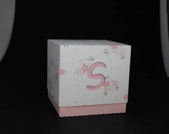 Letter - initial theme candle box