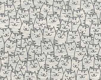 Cats Everywhere Cotton Mix Jersey Stretch Fabric **Baby Nursery Children**