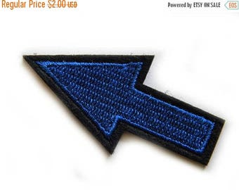 HALF PRICE Blue Arrow Embroidered Patch Appliqué