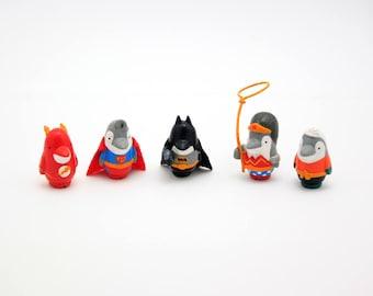 Justice Guins of Antarctica Guin mini figures