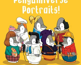 Penguiniverse Digital Penguin Portraits
