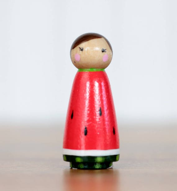 Watermelon Peg Doll Watermelon Decor Cake Topper Hand