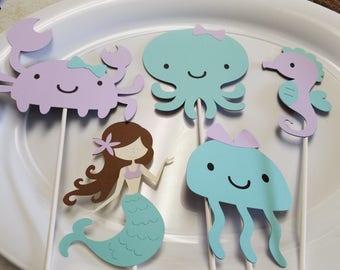 Mermaid centerpiece, mermaid party, under the sea centerpiece, under the sea party, mermaid birthday