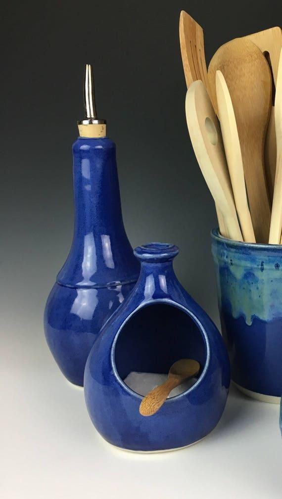 Salt cellar in Cobalt Blue