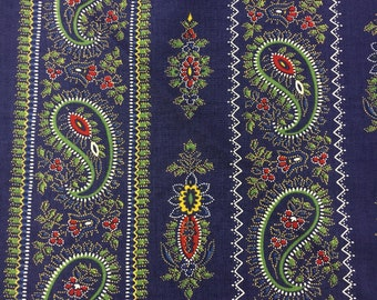 Provencal by Sand Klop of American Jane for Moda 21733 17 Paisley Border Stripe Blue