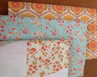 Chatsworth by Emily Taylor Designs, for Riley Blake, Yard Bundle, 3 Fabrics  including the Apron Panel, Floral fabric, Modern fabric