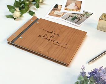 Wedding Guest Book Wood Photo Booth Guestbook Rustic