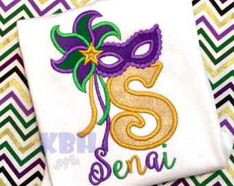 Embroidered Mardi Gras Shirt