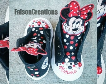 Custom High Top Toddler Minnie Mouse Converse