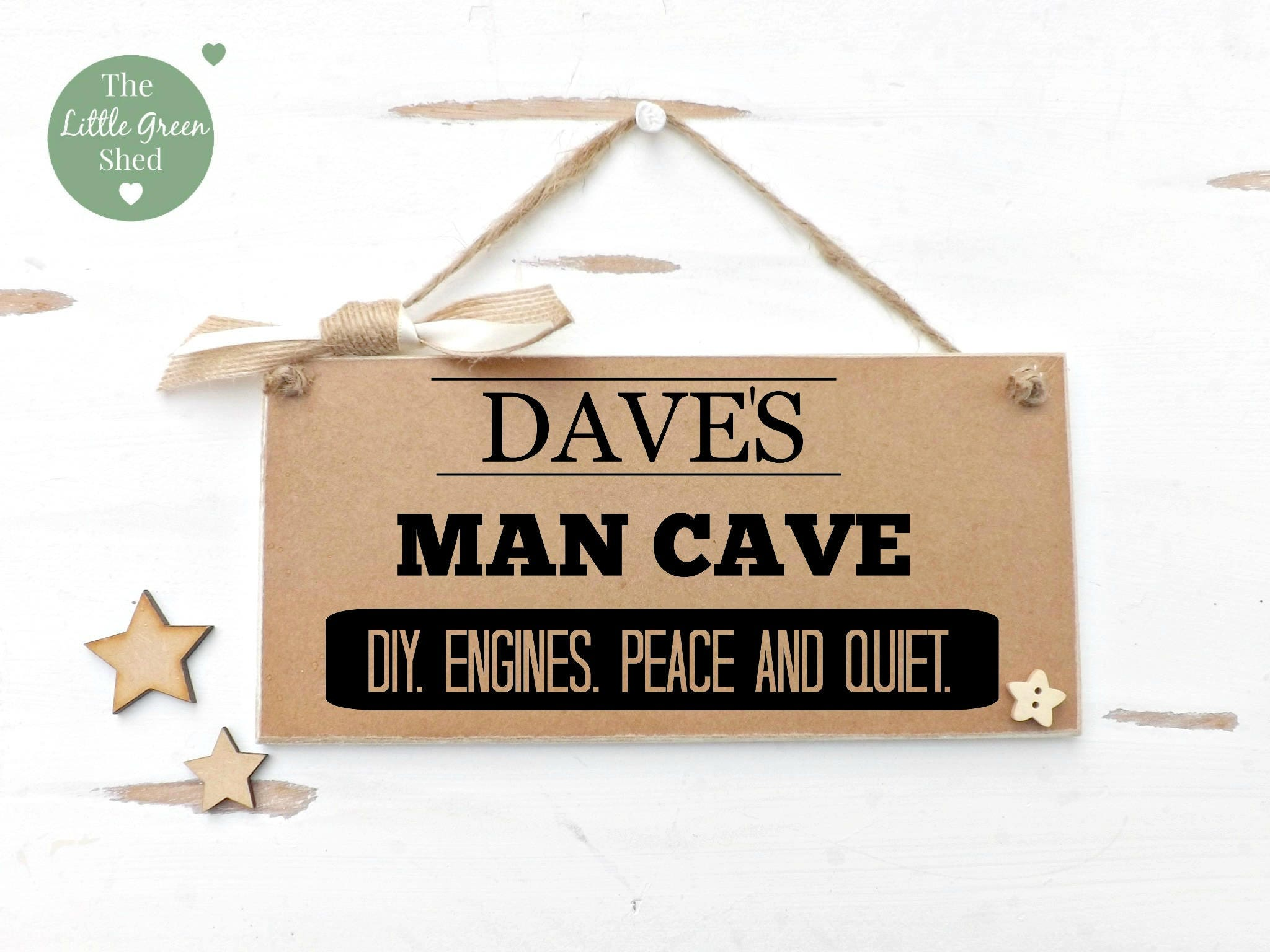 Man Cave Father S Day Gifts : Man cave dads plaque grandads sign personalised gift