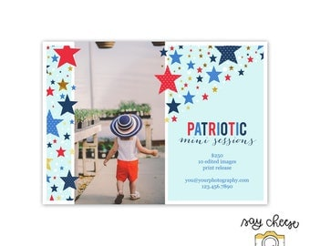 M-31 // 5x7 Fourth of July Mini Session Template, Marketing Board, Marketing Template, Mini Session Marketing, Photography Branding