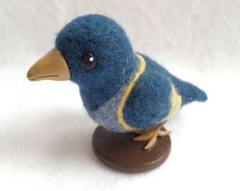 Needle Felted Blue Raven