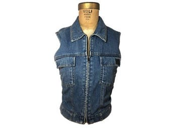 Zip Denim Vest