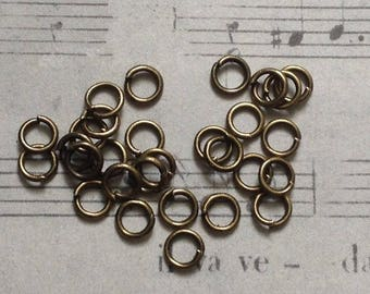 25 rings in metal bronze 4mm