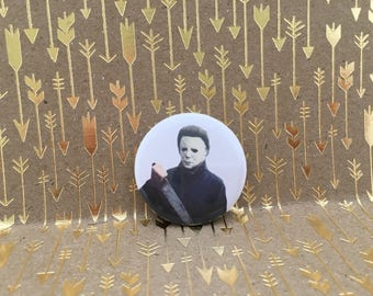 Michael Myers, Halloween, 1.5 inch pin back button, 37 mm pinback button