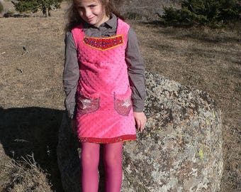 winter fleece dress for 6 to 8 years old girls