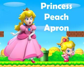 Princess Peach Apron/Baby Princess Peach/Super Mario Apron/Mario Apron/Super Mario/Super Mario Series/Cute Apron/Cosplay Apron