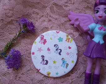 My little pony button pin!