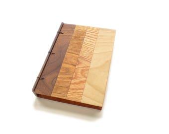 Custom Wooden Notebook, Wooden Wedding Guestbook, Wood Journal, Engraved Notebook, Wooden Sketchbook, Custom Journal, Travel Notebook- 4x6