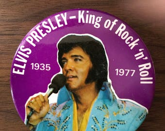 Elvis Presley King of Rock 'n' Roll Pinback Button
