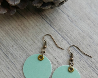 """Green"" paper earrings"