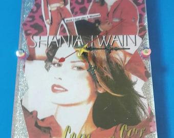 Handmade Acrylic Shania Twain Wall Clock, Handmade, Shania Twain, Acrylic Wall Clock, Functional Art, Country Music Clock,  Made By Mod.