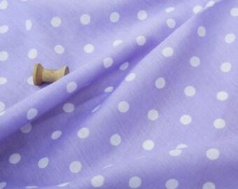 clothing fabric cotton blue white polka dots 3 m
