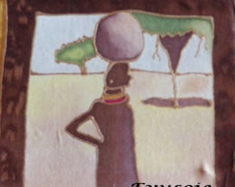 "painting ""woman with the jar"" ilk Afrik collection"