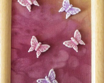 Silk fall butterflies painted in the main@evysoie