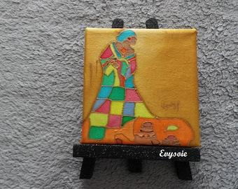 """""""Chalkboard silk"""" African woman """"@evysoie"""