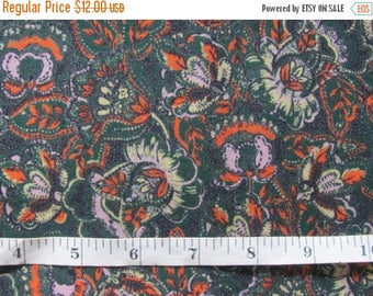 """20% OFF Vintage Fabric by the Yard; Retro Dress Fabric Yardage; Wool & Cotton Fabric W45"""" Sewing Material / Craft Supply / Natural Dress Fab"""
