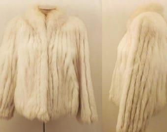Vintage Saga Blue Fox Fur Jacket Size M