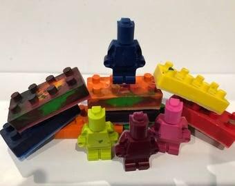 Lego Crayon Set- Perfect for Christmas, stocking stuffer etc! -12 pieces!