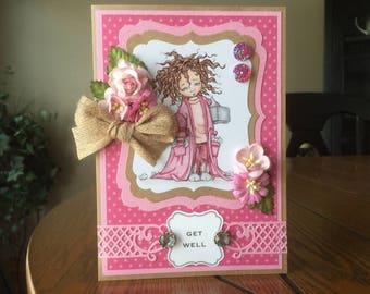 Get Well Handmade Greeting Card