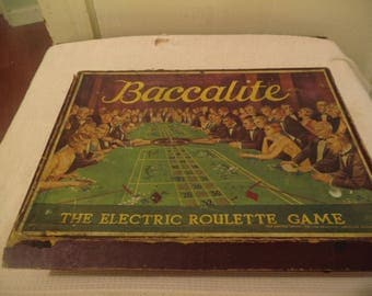 Rare 1920 Baccalite, The Electric Roulette Game