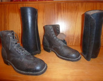 boots old leather genuine t.44///faire offers