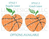 Clear vinyl personalized SCHOOL COACHES clipboard with assorted ribbons