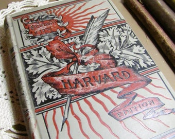 Mrs. Browning's Birthday Book - Harvard Edition - Embossed Cover - Poetry - Birth Dates and Death Dates - Copyright 1890