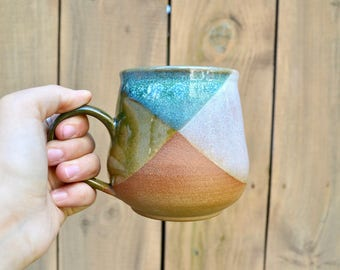 Criss Cross Seafoam Mug #2