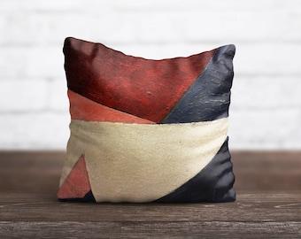 Geometric PillowCase Blue Red Throw Pillow Cover Decorative PillowCase Toss Pillow Silk Pillow Case Satin PillowCase Art Home Decor Her Gift