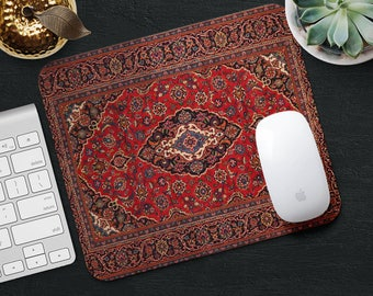 Mouse Pad Rug Mousepad Red Mouse Mat Persian Carpet MousePad Desk Accessories Mouse Pad Round Mouse Mat Persian Rug Mouse Pad Office Gift