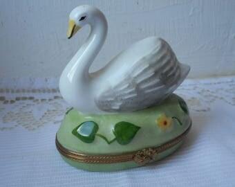 RARE stunning vintage Limoges porcelain hand painted trinket box peint main