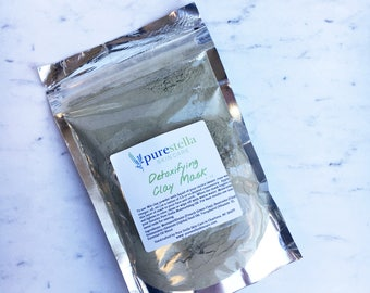 Detoxifying Clay Mask - French Green and Bentonite clay will remove toxins and tighten skin